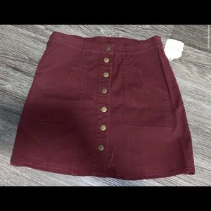 Altered state button up skirt